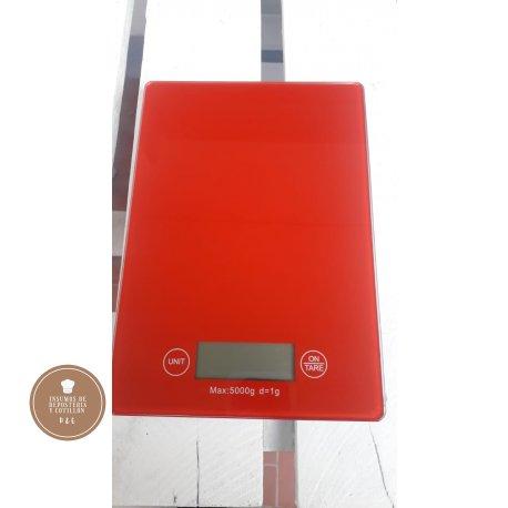 Balanza digital DE COCINA HASTA 5 KG (VIDRIO TEMPLADO)