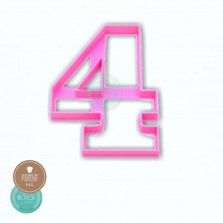 Cortante 3d numero 4 (10cm altura)