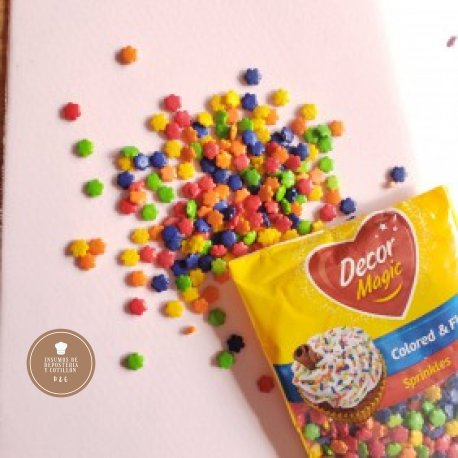 Grana Estrella Multicolor x 50 gr. - DECORMAGIC