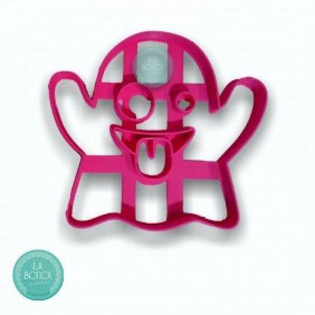 Cortante 3D Ghost Emoji - fantasma Halloween