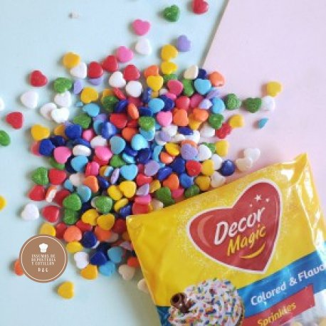 Grana Corazon Multicolor x 50 gr DECORMAGIC