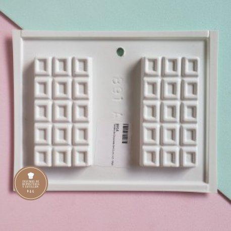 Molde Placa Acetato - Tableta de Chocolate 9x4.5 cm. x 2 -
