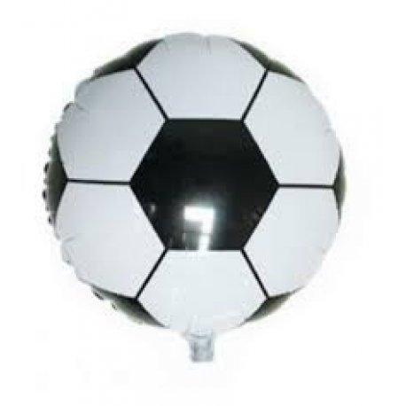 """Globo metalizado pelota de futbol 18"""""""