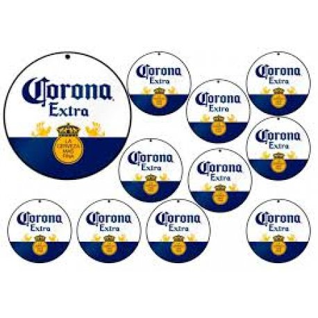 LAMINA TRANSFER  x 24 figuras corona cerveza