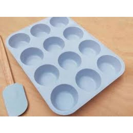 MOLDE MUFFINS SILICONA x 12