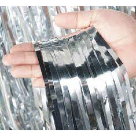Cortina Metalizada PLATA 0.80 x 2.20m x1