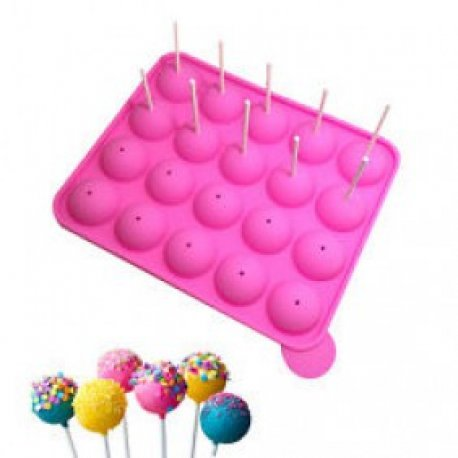 Molde Silicona Cake pop - 20 cavidades