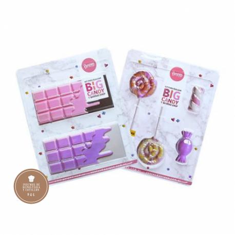 Molde Placa Acetato Set x 2 - Big Candy y Barras Drip -PARPEN