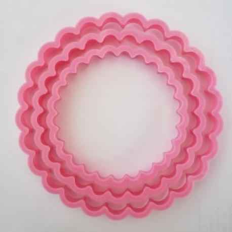 Cortante 3D - Blonda Redonda x 3 - 8, 10, 12 cm