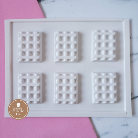 Molde Acetato - Mini Wafle x 6 u.