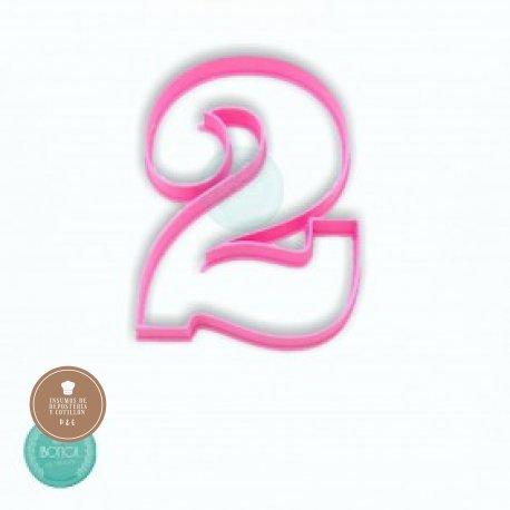 Cortante 3d numero 2 (10cm altura)