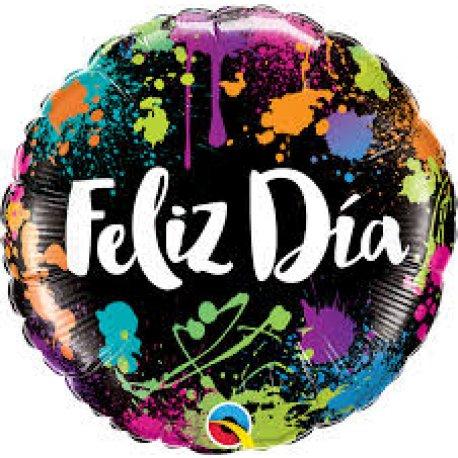 "Globo Metalizado Feliz CUMPLE GRANDE 18"""