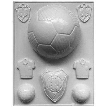 Molde Placa Acetato Pelotas Futbol y Botin