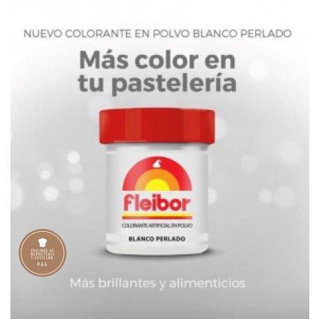 Colorante en Polvo Comestible x 5 gr. Blanco Perlado - Fleibor