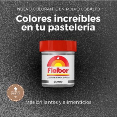Colorante en Polvo Comestible x 4 gr - Grafito - FLEIBOR