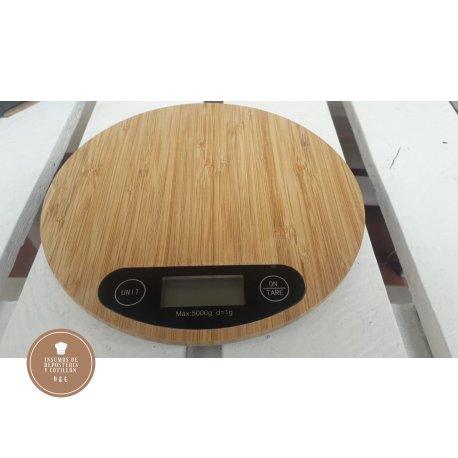 Balanza digital DE COCINA HASTA 5 KG (MADERA BAMBOO)