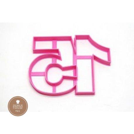 Cortante 3d Numero 15 unido 12 cm