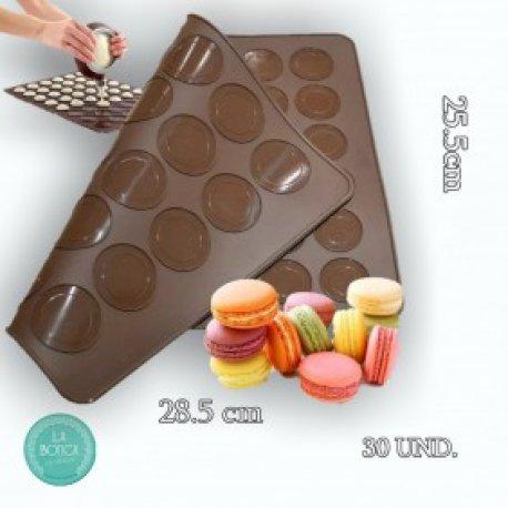 Placa Silicona macaron pequeña 25,8 x 28,5 cm