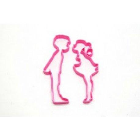Cortante 3D - Pareja enamorados - 12 cm