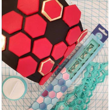 La Botica - Cortante Geometrico Hexagonos set X 2 tamaños