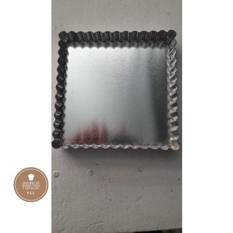 Molde frola rectangular desfondable 11 x 11