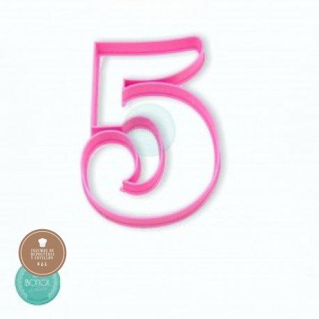 Cortante 3d numero 5 (10cm altura)